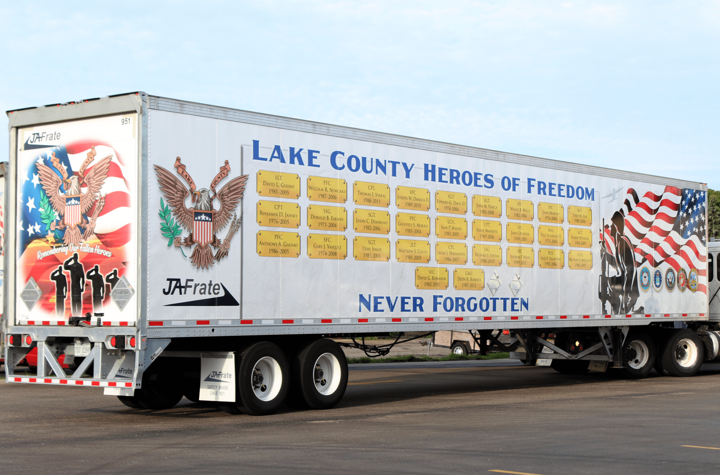 The Third JA Memorial Trailer for all Lake County KIA Personnel