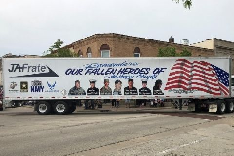 The Second JA Memorial Trailer for all McHenry County KIA Personnel